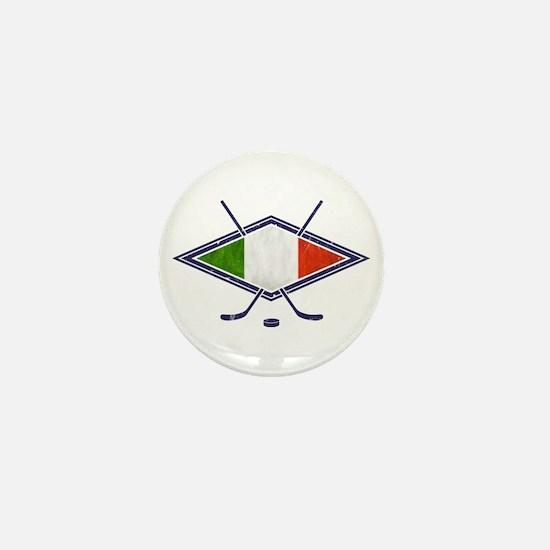 hockey su Ghiaccio Italiano Flag Mini Button