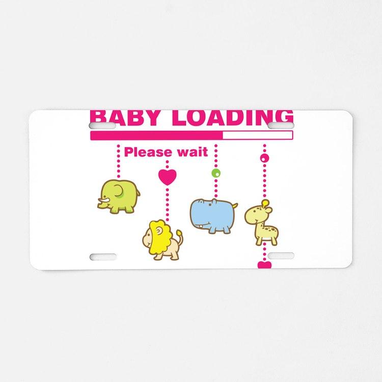 Baby girl loading Aluminum License Plate