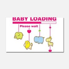 Baby girl loading Car Magnet 20 x 12