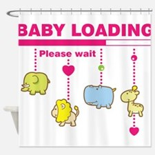 Baby girl loading Shower Curtain