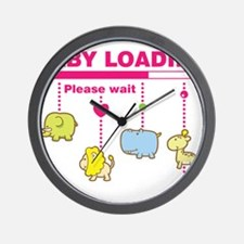 Baby girl loading Wall Clock