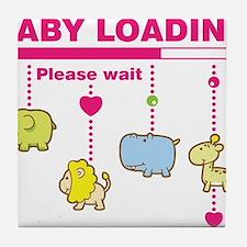 Baby girl loading Tile Coaster