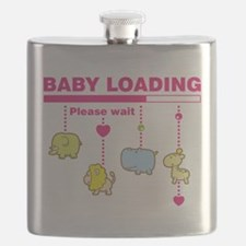 Baby girl loading Flask