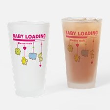Baby girl loading Drinking Glass