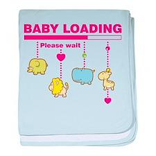 Baby girl loading baby blanket