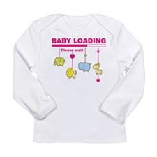 Baby girl loading Long Sleeve T-Shirt