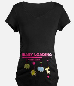 Baby girl loading Maternity T-Shirt