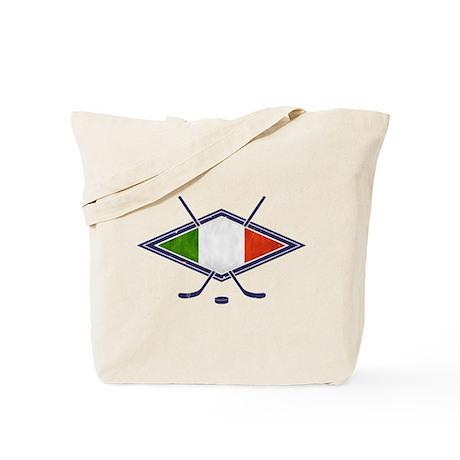 hockey su Ghiaccio Italiano Flag Tote Bag