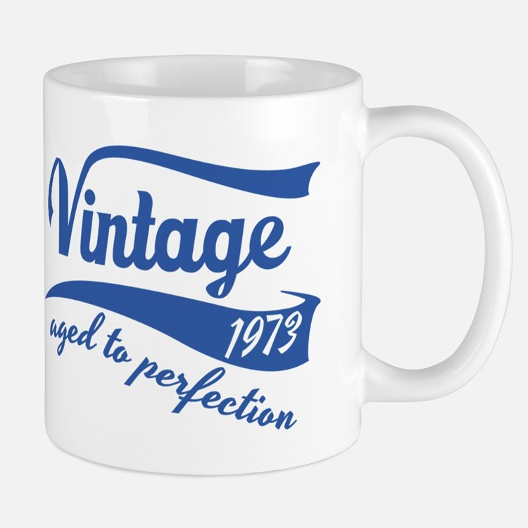 Vintage 1973 aged to perfection birthday design Mu