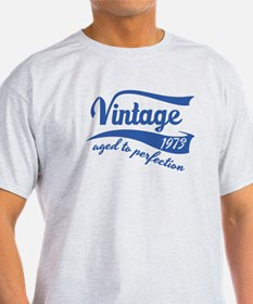 Vintage 1973 aged to perfection birthday design T-