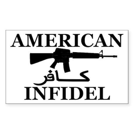 American Infidel Sticker
