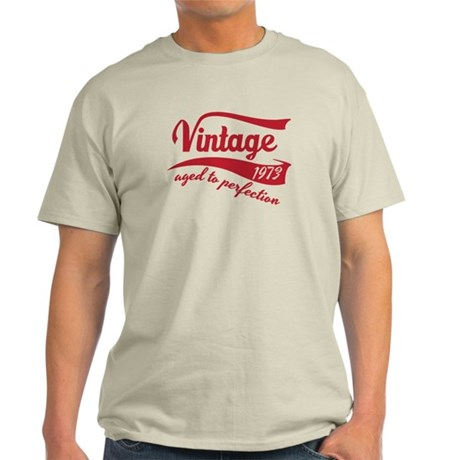 1973 aged to perfection birthday design in red T-S