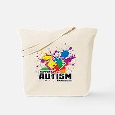 Autism Paint Splatter Tote Bag