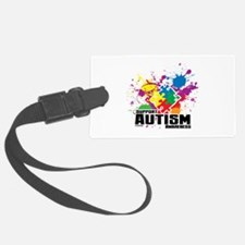 Autism Paint Splatter Luggage Tag