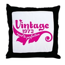 Aged to perfection 1973 pink design Throw Pillow