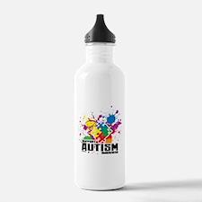 Autism Paint Splatter Water Bottle