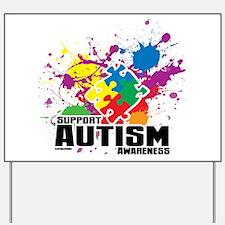 Autism Paint Splatter Yard Sign