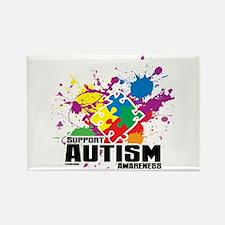 Autism Paint Splatter Rectangle Magnet