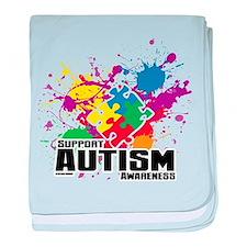 Autism Paint Splatter baby blanket
