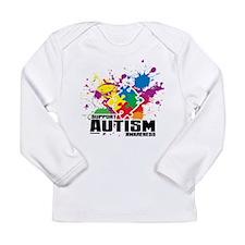 Autism Paint Splatter Long Sleeve T-Shirt