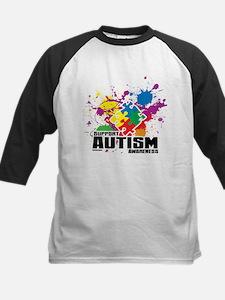 Autism Paint Splatter Baseball Jersey
