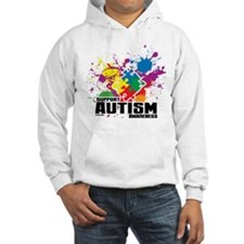 Autism Paint Splatter Hoodie