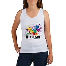 Autism Paint Splatter Tank Top