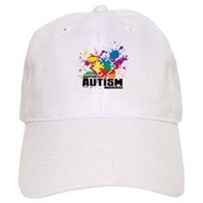 Autism Paint Splatter Baseball Baseball Cap
