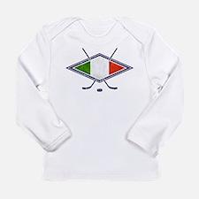 hockey su Ghiaccio Italiano Flag Long Sleeve T-Shi