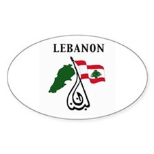 LEBANON Oval Decal
