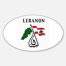 LEBANON Oval Decal