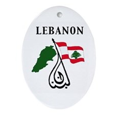 LEBANON Oval Ornament