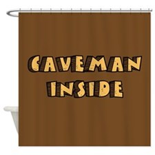 Caveman Inside Shower Curtain