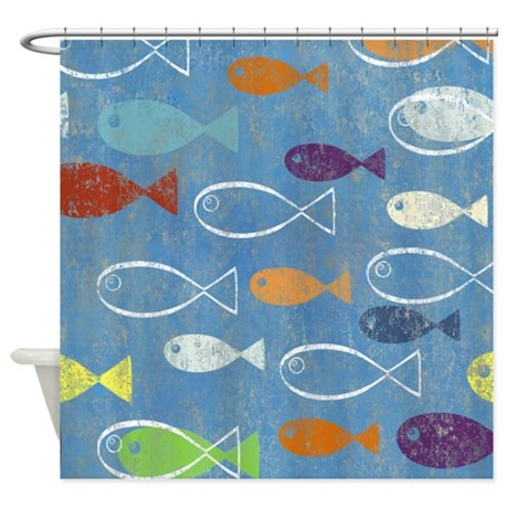 Fish Shower Curtain By Poptopia1