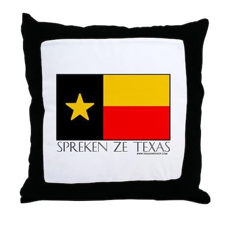German Spreken Ze Texas Throw Pillow