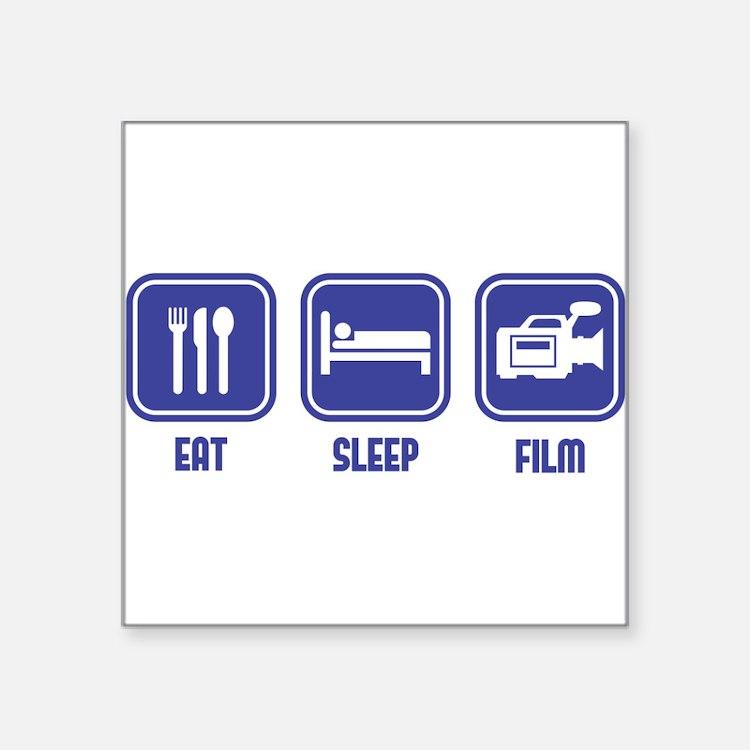 Eat Sleep Film design in blue Sticker