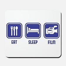 Eat Sleep Film design in blue Mousepad