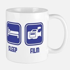 Eat Sleep Film design in blue Mug