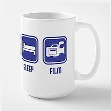 Eat Sleep Film design in blue Mug