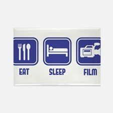 Eat Sleep Film design in blue Rectangle Magnet