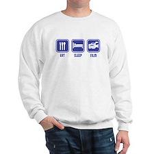 Eat Sleep Film design in blue Sweatshirt