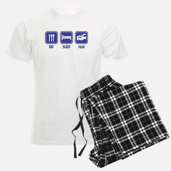 Eat Sleep Film design in blue Pajamas