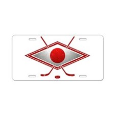 Japanese Ice Hockey Flag Aluminum License Plate