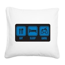 Eat Sleep Game design in blue with black backgroun