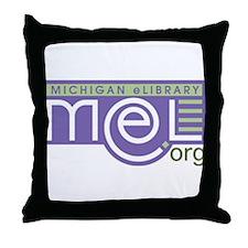 MeL, the Michigan eLibrary Throw Pillow