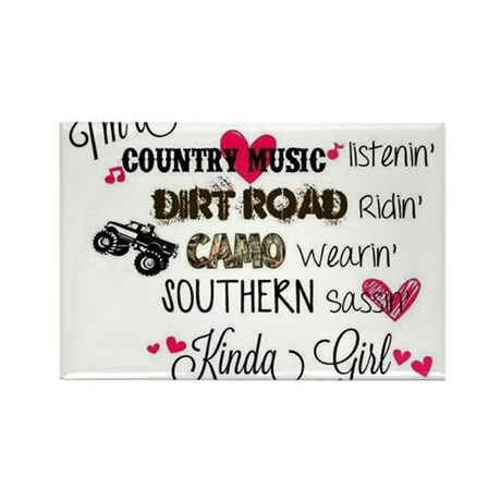 Country Girl Rectangle Magnet