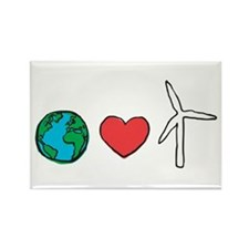 Earth Loves Wind Rectangle Magnet