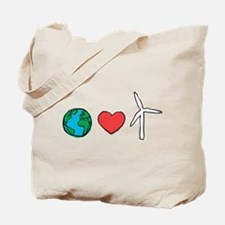 Earth Loves Wind Tote Bag