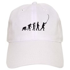 evolution of man fisherman Baseball Baseball Cap