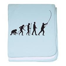evolution of man fisherman baby blanket